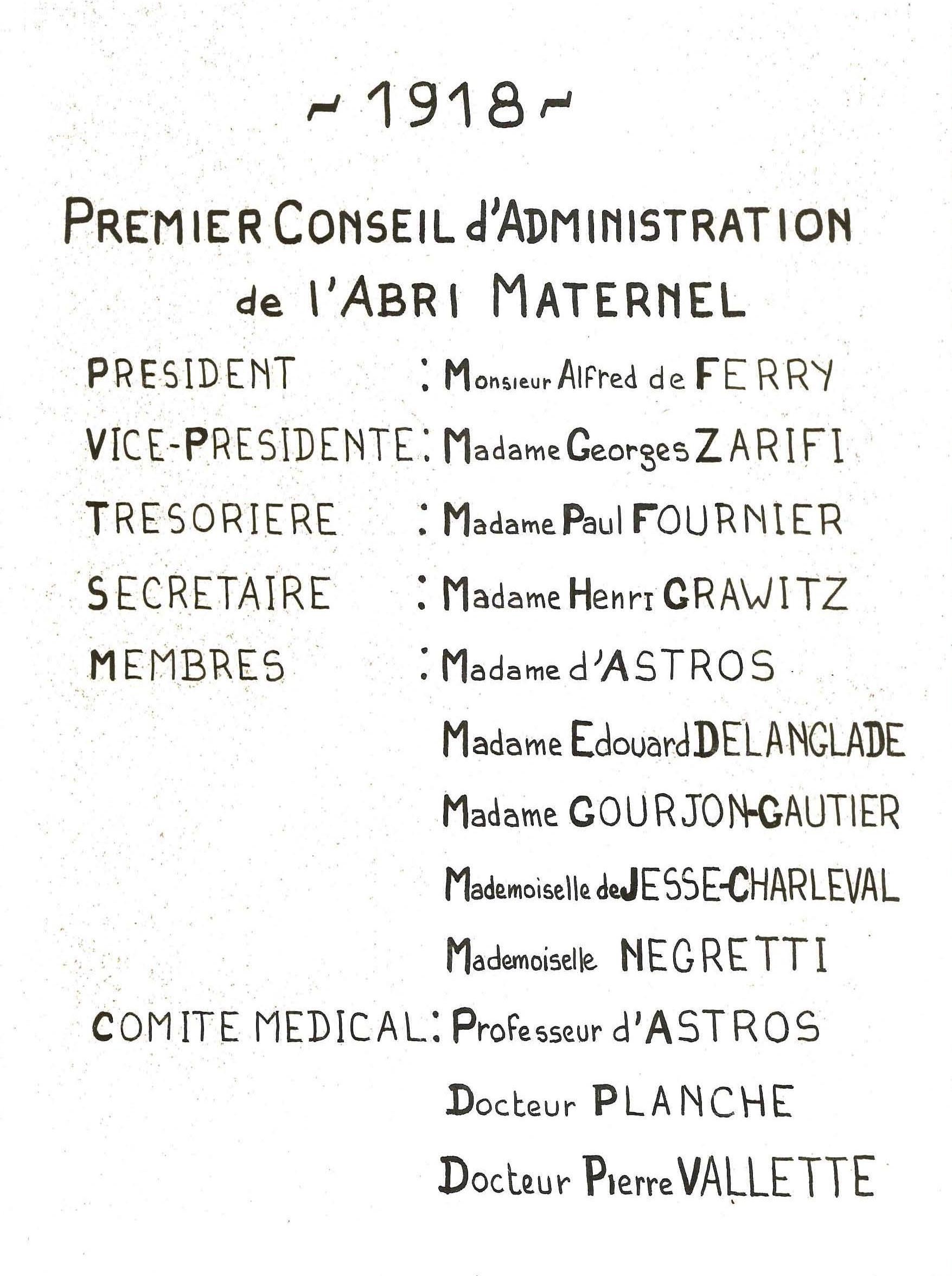 1er Conseil administration AM-sans-cadre
