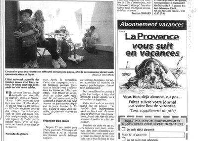 La Provence (décembre 1998)