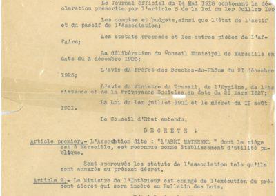 Décret 27/04/1927